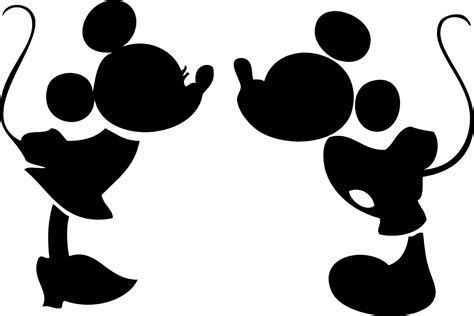 mickey clipart silhouette mickey silhouette transparent