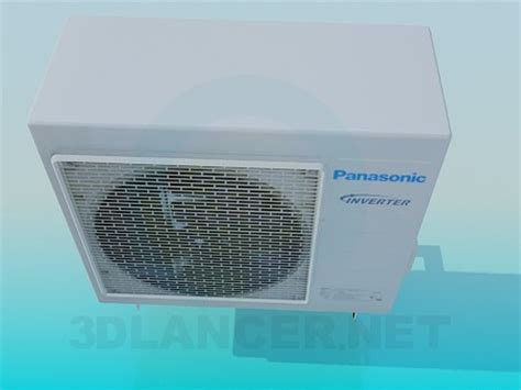 Ac Outdoor Panasonic 3d model panasonic air conditioner outdoor unit