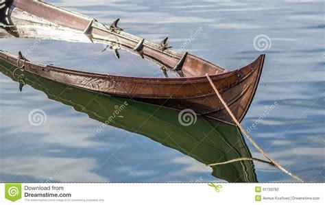 sinking viking ship  boat stock photo image