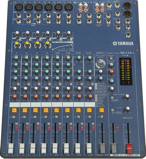 Mixer Audio Yamaha 8 Channel yamaha mg124cx 12 channel stereo mixer with effects zzounds