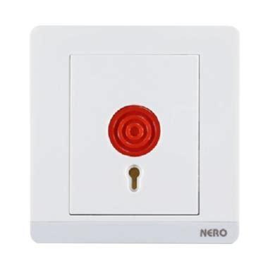 Saklar Decora Q72ph White Nero jual produk panic button harga promo diskon blibli