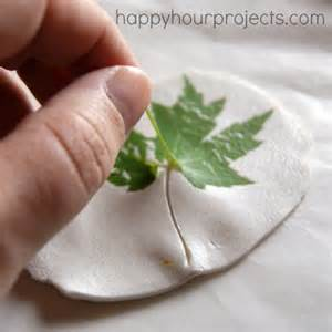 How To Make A Jewelry Roll - leaf imprinted clay necklace happy hour projects