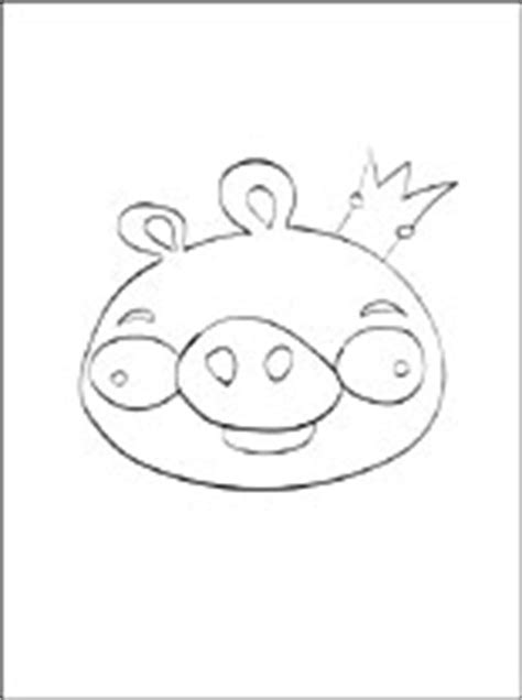 coloring page angry birds pig king coloring pages