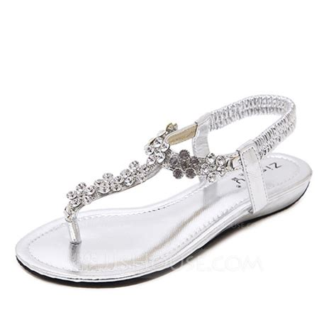 Womens Flat Wedding Shoes by S Leatherette Flat Heel Flats Sandals Wedding