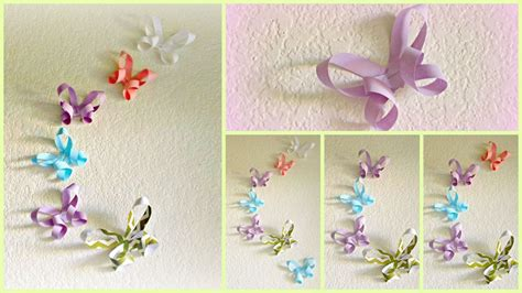 how to make decorations diy room decor 3d paper butterflies