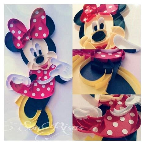 quilling mouse tutorial minnie quilling paper qwilling pinterest disney