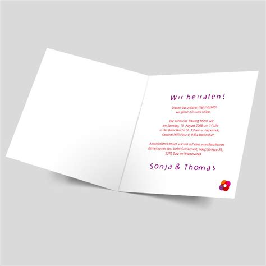 Hochzeitseinladungen Pink by Hochzeitseinladung Zwei Menschen Pink Rot Orange