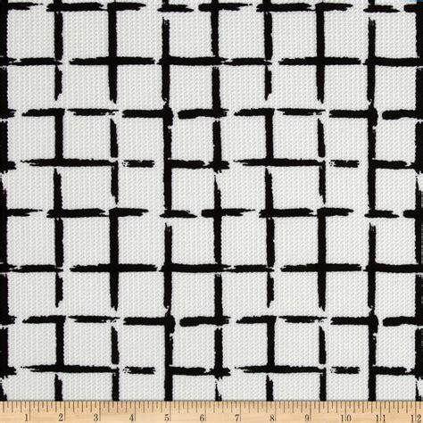 square pattern fabric name telio paola pique knit squares linen white jet black