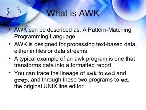 awk pattern matching exles learning sed and awk