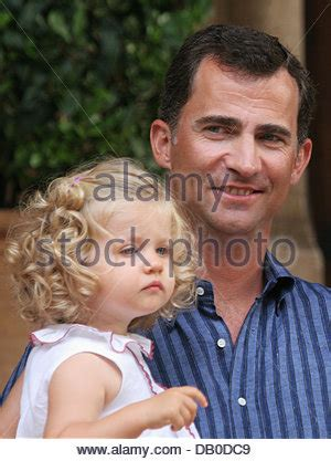 (r l) crown prince felipe of spain and his first born