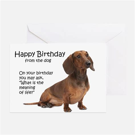 birthday card template dogs dachshund greeting cards card ideas sayings designs