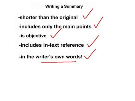 how to improve your summary writing skills