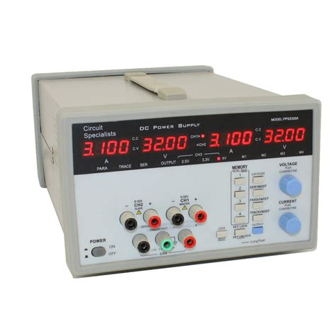 bench power supplies circuit specialists pps2320a tri output programmable bench