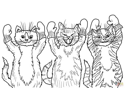 three little kittens coloring page three little kittens coloring page coloring home