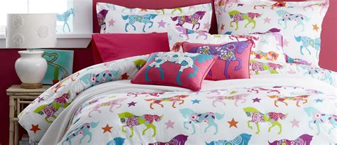 Pottery Barn Dining Room Sets by Girls Horse Bedding Cowgirl Theme Bedroom Pony Bedding