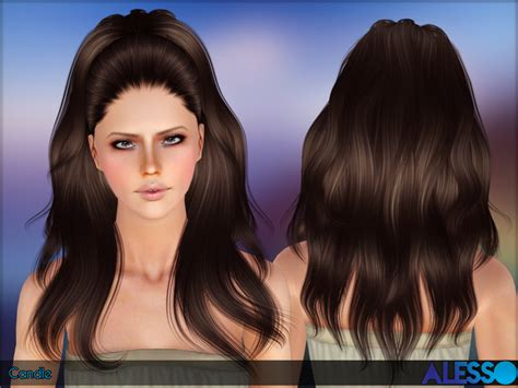 the sims 4 cc hair ponytail the sims resource tsr candle hair set by alesso sims 3