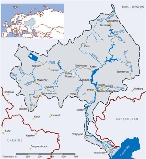 volga river map russian nature the volga river