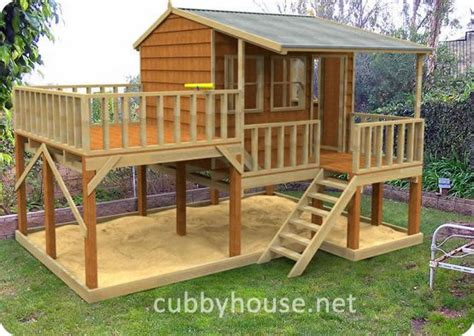 Home Design Play Elevated Playhouse Plans Kits Diy Handyman Cubby