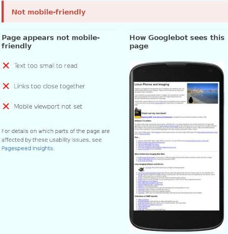not mobile site tips for passing s quot mobile friendly quot tests shallow