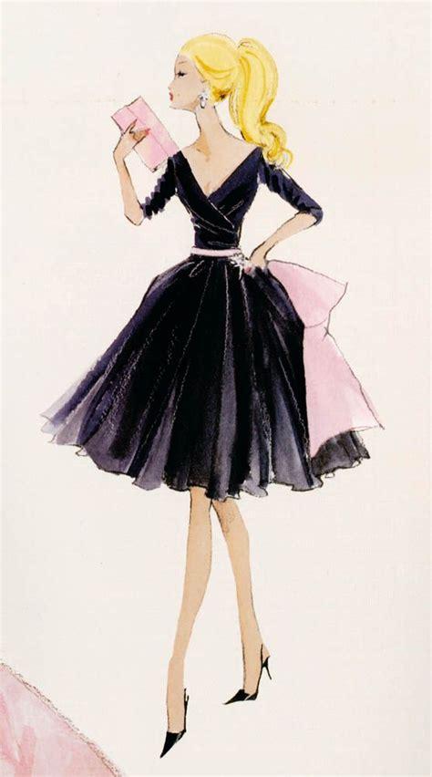 love fashion design print girl midnight mischief barbie fashion canvas print barbie