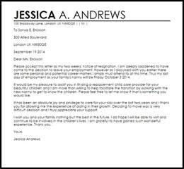 Nanny Cover Letter by Cover Letter For A In Childcare