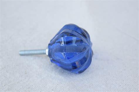 Blue Glass Door Knob Lighting