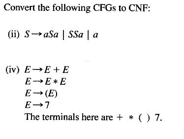 solved: convert these two cfg's (context free grammer) to