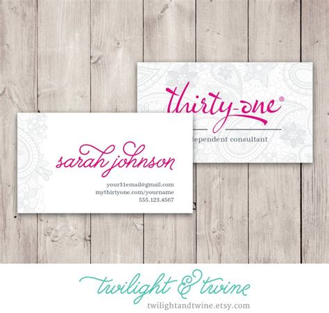 Thirty One Consultant Business Cards 54 best images about thirty one scentsy business cards