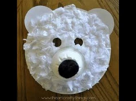 Polar Paper Plate Craft - how to make a paper plate polar