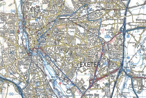 printable map exeter exeter map street related keywords exeter map street