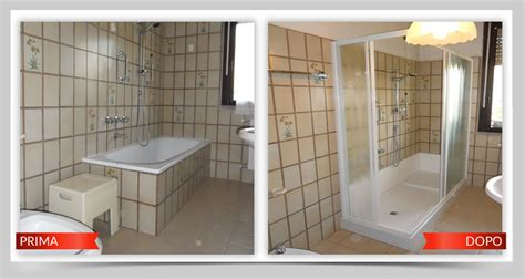 vasca da bagno trasformata in doccia vasca trasformata in doccia