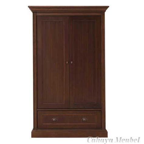 Lemari Kayu Jati Pintu 2 lemari pakaian 2 pintu jati jepara jual lemari pakaian minimalis 2 pintu jati cahaya mebel jepara