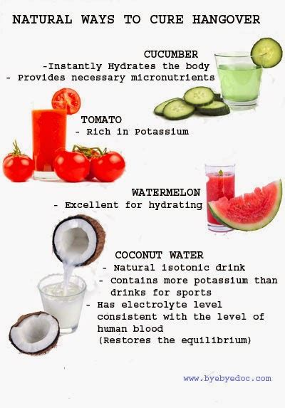 health nutrition tips ways to cure hangover