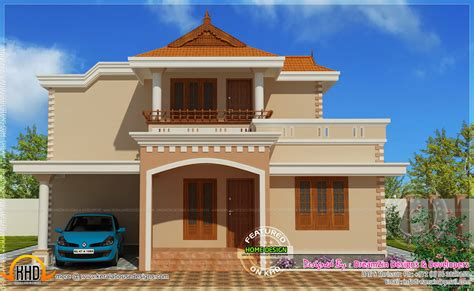 simple storied house elevation indian house plans