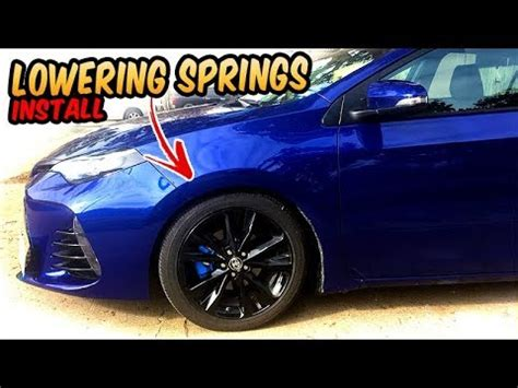 lowering springs install before and after 2017 toyota