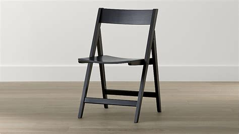 folding dining chairs wood spare black folding wood dining chair crate and barrel