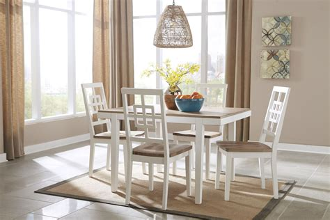 Two Toned Dining Room Sets by Brovada Two Tone Rectangular Dining Room Set D298 225