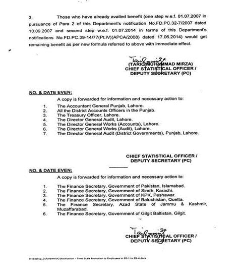 Promotion Notification Letter Govt Of Punjab Punjab Govt Notification Timescale Promotions Of Class 4 Lower Scales Employees Bps 1 4
