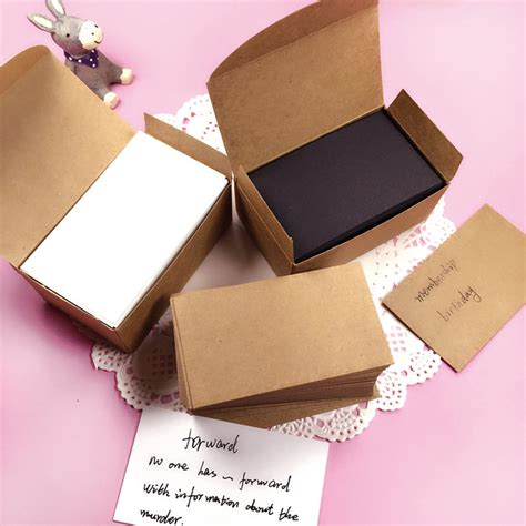 Paper Cards - white black kraft paper card message memo wedding
