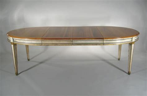 unusual louis xvi style oval dining table with copper top igavel auctions louis xvi style fruitwood paint decorated