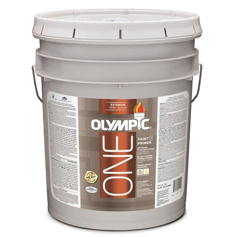 acrylic paint exterior shop olympic one base 1 ultra white semi gloss acrylic