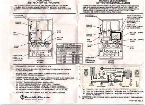 franklin electric motor wiring diagram franklin kit for 1hp 230v box part