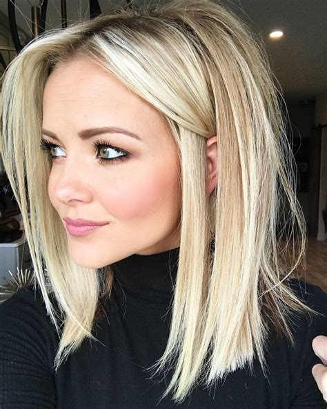 Love This Cut Hair Pinterest Blonde Bobs Blondes | blonde lob haircut love her color and he length hair