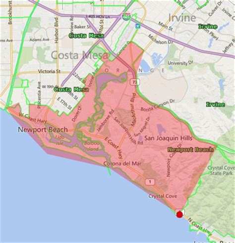 zip code map huntington beach ca zip codes for newport beach
