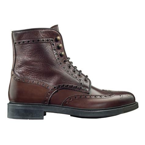 wing tip boots santoni coleman f2 wingtip brogue boots brown