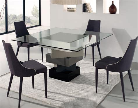 Salle A Manger Table Carrée 1343 design 187 table en verre carre agrandisable cuisine