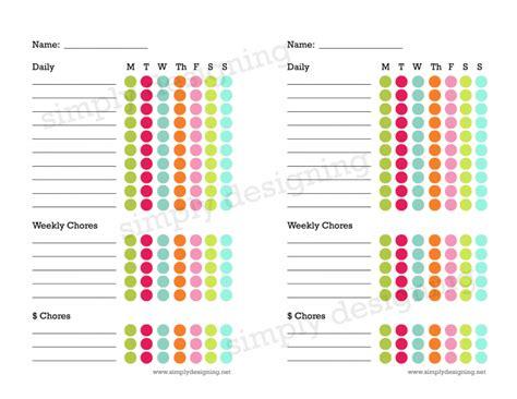 Plan My House free kids chore chart printable