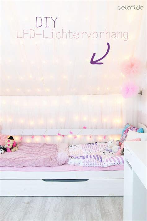 Kinderzimmer Ideen Diy by Kinderzimmer Ideen M 228 Dchen Diy Lichtervorhang Bett