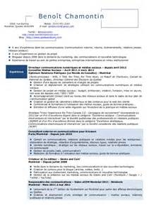 exemple de cv canadien francophone cv anonyme