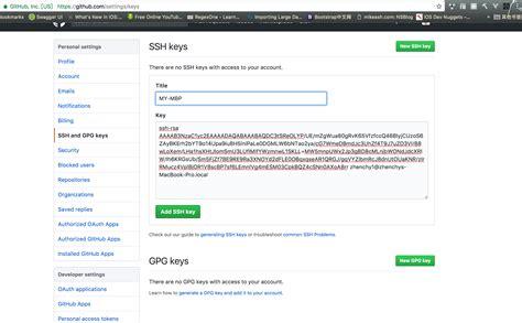github tutorial on creating ssh keys githuber blog